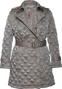 Quilted Trench Coat, Pearl - pattern: plain; length: below the bottom; style: quilted; collar: standard lapel/rever collar; predominant colour: mid grey; occasions: casual, evening, work; fit: tailored/fitted; fibres: polyester/polyamide - 100%; waist detail: belted waist/tie at waist/drawstring; shoulder detail: discreet epaulette; sleeve length: long sleeve; sleeve style: standard; texture group: technical outdoor fabrics; collar break: medium; pattern type: fabric; pattern size: standard; embellishment: quilted
