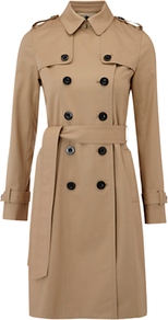 Saskia Trench Coat, Natural - pattern: plain; shoulder detail: obvious epaulette; style: trench coat; length: on the knee; collar: standard lapel/rever collar; predominant colour: camel; occasions: casual, evening, work; fit: tailored/fitted; fibres: cotton - stretch; sleeve length: long sleeve; sleeve style: standard; texture group: cotton feel fabrics; collar break: high; pattern type: fabric; pattern size: standard