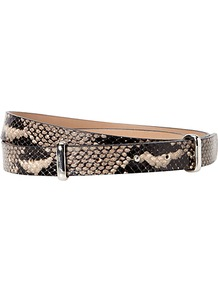 Datchworth Belt, Snake - predominant colour: taupe; occasions: casual, evening, work; type of pattern: heavy; style: classic; size: standard; worn on: waist; material: leather; pattern: animal print; finish: plain