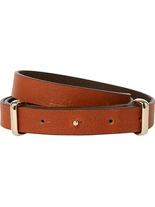 Datchworth Belt, Tan - predominant colour: tan; occasions: casual, work; type of pattern: small; style: classic; size: standard; worn on: waist; material: leather; pattern: plain; finish: plain