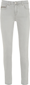 Zip Pocket Jeans, White - style: skinny leg; length: standard; pattern: plain; pocket detail: traditional 5 pocket; waist: mid/regular rise; predominant colour: white; occasions: casual, evening, holiday; fibres: cotton - stretch; texture group: denim; pattern type: fabric