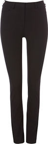 Amanda Jeans, Black - style: skinny leg; length: standard; pattern: plain; pocket detail: traditional 5 pocket; waist: mid/regular rise; predominant colour: black; occasions: casual, evening; fibres: cotton - stretch; jeans detail: dark wash; texture group: denim; pattern type: fabric; pattern size: standard