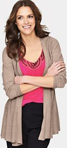 Petite Supersoft Edge To Edge Cardigan, Black - pattern: plain; length: below the bottom; neckline: collarless open; style: open front; predominant colour: camel; occasions: casual, work; fibres: acrylic - mix; fit: loose; sleeve length: long sleeve; sleeve style: standard; texture group: knits/crochet; pattern type: fabric