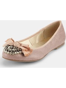 Meester Extra Widefit Ballerina Shoes, Pink - predominant colour: blush; occasions: casual, work; material: fabric; heel height: flat; embellishment: beading; toe: round toe; style: ballerinas / pumps; finish: plain; pattern: plain