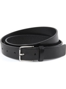 Blackhole Belt - predominant colour: black; occasions: casual, work; style: classic; size: standard; worn on: hips; material: leather; pattern: plain; finish: plain