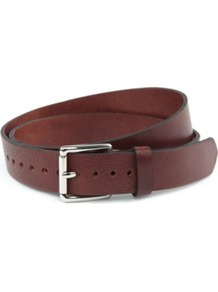 Class Belt - predominant colour: chocolate brown; occasions: casual, work; style: classic; size: standard; worn on: waist; material: leather; pattern: plain; finish: plain