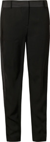 Tuxedo Stripe Track Trousers - length: standard; pattern: plain; pocket detail: pockets at the sides; waist: mid/regular rise; predominant colour: black; occasions: evening, occasion; fibres: polyester/polyamide - 100%; texture group: crepes; fit: straight leg; pattern type: fabric; pattern size: standard; style: standard