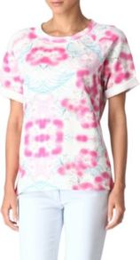 Taquinerie Top - style: t-shirt; predominant colour: pink; occasions: casual, holiday; length: standard; fibres: cotton - stretch; fit: body skimming; neckline: crew; sleeve length: short sleeve; sleeve style: standard; pattern type: fabric; pattern size: big & busy; pattern: patterned/print; texture group: jersey - stretchy/drapey