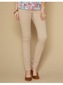 Lucy Slim Leg Jeans - length: standard; pattern: plain; pocket detail: traditional 5 pocket; style: slim leg; waist: mid/regular rise; predominant colour: champagne; occasions: casual; fibres: cotton - stretch; texture group: denim; pattern type: fabric; pattern size: standard