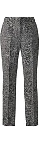Printed Slim Leg Trousers Length 27in - length: standard; pattern: plain; waist: mid/regular rise; predominant colour: charcoal; occasions: casual, evening, work; fibres: cotton - stretch; fit: slim leg; pattern type: fabric; pattern size: standard; texture group: tweed - light/midweight; style: standard