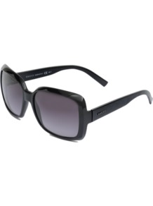 Gg 3207/S Sunglasses - predominant colour: black; occasions: casual, holiday; style: square; size: large; material: plastic/rubber; pattern: plain; finish: plain