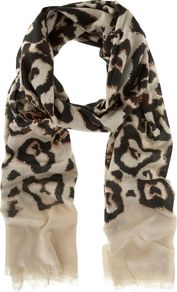 Tafara Print Scarf, Multi Coloured - predominant colour: stone; occasions: casual, evening, work, occasion, holiday; type of pattern: standard; style: regular; size: standard; material: fabric; pattern: animal print; trends: statement prints