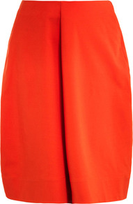 Nebbia Tulip Skirt - length: below the knee; pattern: plain; style: full/prom skirt; fit: loose/voluminous; waist detail: fitted waist; waist: high rise; predominant colour: bright orange; occasions: casual, evening, work; fibres: cotton - mix; hip detail: structured pleats at hip; texture group: crepes; trends: volume; pattern type: fabric; pattern size: standard