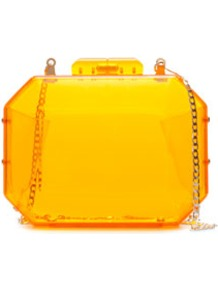 Neon MinaudiÉre - predominant colour: bright orange; occasions: evening, occasion; style: clutch; length: hand carry; size: mini; material: plastic/rubber; pattern: plain; trends: fluorescent; finish: plain