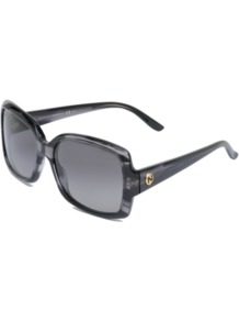 Gg 3580/S Sunglasses - predominant colour: charcoal; occasions: casual, holiday; style: square; size: standard; material: plastic/rubber; pattern: plain; finish: plain