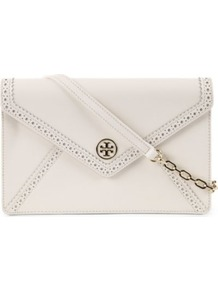 Robinson Envelope Shoulder Bag - predominant colour: ivory; occasions: evening, work, occasion; type of pattern: standard; style: clutch; length: shoulder (tucks under arm); size: small; material: leather; pattern: plain; finish: plain
