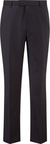 Contemporary Fit Navy Plain Trousers - length: standard; pattern: plain; waist: mid/regular rise; predominant colour: navy; occasions: casual, work; fibres: wool - 100%; fit: straight leg; pattern type: fabric; pattern size: standard; texture group: other - light to midweight; style: standard