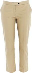 Quentin Cotton Trouser Beige - pattern: plain; pocket detail: small back pockets; waist: mid/regular rise; predominant colour: stone; occasions: casual, evening, work, holiday; length: ankle length; fibres: cotton - stretch; hip detail: fitted at hip (bottoms); waist detail: narrow waistband; texture group: cotton feel fabrics; fit: slim leg; pattern type: fabric; pattern size: standard; style: standard