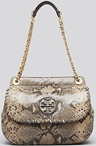 Crossbody Marion Saddle Bag - predominant colour: stone; occasions: casual, evening, work, occasion; type of pattern: standard; style: shoulder; length: shoulder (tucks under arm); size: standard; material: leather; pattern: animal print; trends: statement prints; finish: plain; embellishment: chain/metal