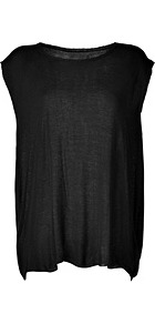 Black Knit Oversized Bliss Top - neckline: slash/boat neckline; sleeve style: capped; pattern: plain; predominant colour: black; occasions: casual, holiday; length: standard; style: top; fibres: viscose/rayon - 100%; fit: loose; back detail: longer hem at back than at front; sleeve length: short sleeve; pattern type: fabric; texture group: jersey - stretchy/drapey