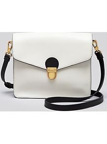 Tote Top Chicret Colorblocked East West - predominant colour: white; occasions: casual, work; type of pattern: standard; style: messenger; length: across body/long; size: small; material: leather; pattern: plain; finish: plain