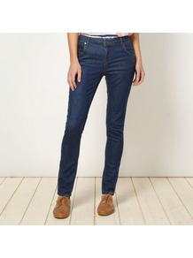 Designer Blue Triangle Embroidered Jeans - style: skinny leg; length: standard; pattern: plain; pocket detail: traditional 5 pocket; waist: mid/regular rise; predominant colour: navy; occasions: casual; fibres: cotton - stretch; jeans detail: dark wash; texture group: denim; pattern type: fabric; pattern size: small &amp; light; embellishment: embroidered
