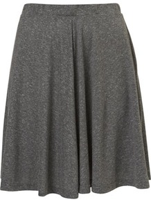 Tall Speckled Skater Skirt - pattern: plain; fit: body skimming; waist detail: elasticated waist; waist: mid/regular rise; predominant colour: charcoal; occasions: casual, work; length: just above the knee; style: a-line; fibres: polyester/polyamide - mix; pattern type: fabric; texture group: jersey - stretchy/drapey