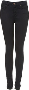 Tall Moto Leigh Jeans - style: skinny leg; length: standard; pattern: plain; pocket detail: traditional 5 pocket; waist: mid/regular rise; predominant colour: indigo; occasions: casual; fibres: cotton - stretch; jeans detail: dark wash; texture group: denim; pattern type: fabric; pattern size: standard
