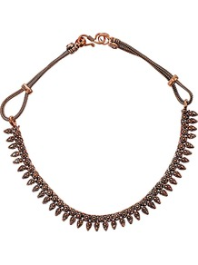 Hand Crafted Silver Spike Necklace - predominant colour: bronze; occasions: casual, evening, work; style: standard; length: short; size: standard; material: chain/metal; finish: metallic