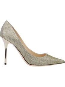 Lame Glitter Abel 100 Court - predominant colour: silver; occasions: evening, occasion; material: leather; heel height: high; embellishment: glitter; heel: stiletto; toe: pointed toe; style: courts; trends: metallics; finish: metallic; pattern: plain