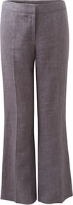 Victoire Linen Trousers, Light Steel - length: standard; pattern: plain; waist: mid/regular rise; predominant colour: mid grey; occasions: casual, work, holiday; fibres: linen - 100%; texture group: linen; fit: wide leg; pattern type: fabric; style: standard