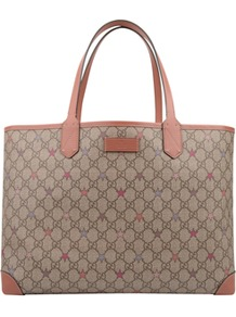 Gg Plus Stars Supreme Canvas Tote - predominant colour: taupe; occasions: casual, evening, work; type of pattern: light; style: tote; length: handle; size: standard; material: fabric; pattern: monogram; finish: plain