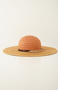 Red Cedar Floppy Hat - predominant colour: camel; occasions: casual, holiday; style: wide brimmed; size: large; material: macrame/raffia/straw; pattern: plain; embellishment: chain/metal