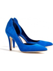 Blue Atenera Suede Court Shoes - predominant colour: royal blue; occasions: work, occasion; material: suede; heel height: high; heel: stiletto; toe: pointed toe; style: courts; finish: plain; pattern: plain