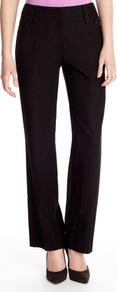 Black Linen Trouser - length: standard; pattern: plain; waist: mid/regular rise; predominant colour: black; occasions: work; fibres: linen - mix; texture group: linen; fit: straight leg; pattern type: fabric; pattern size: standard; style: standard