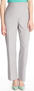 Grey Piping Detail Trousers - length: standard; waist: high rise; predominant colour: light grey; occasions: casual, work; fibres: polyester/polyamide - 100%; hip detail: front pleats at hip level; fit: straight leg; pattern type: fabric; pattern size: small &amp; light; pattern: patterned/print; texture group: woven light midweight; style: standard