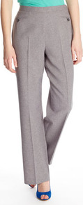 Charcoal Pocket Detail Classic Trouser - length: standard; pattern: plain; waist: mid/regular rise; predominant colour: light grey; occasions: casual, evening, work; fibres: polyester/polyamide - 100%; fit: straight leg; pattern type: fabric; texture group: woven light midweight; style: standard