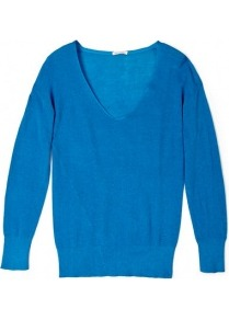 Nevada V Neck Jumper - neckline: low v-neck; pattern: plain; style: standard; predominant colour: royal blue; occasions: casual, work; length: standard; fibres: cotton - 100%; fit: standard fit; sleeve length: long sleeve; sleeve style: standard; texture group: knits/crochet; pattern type: knitted - fine stitch; pattern size: standard