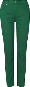 Lexi Jeans, Jade - length: standard; pattern: plain; pocket detail: traditional 5 pocket; style: slim leg; waist: mid/regular rise; predominant colour: emerald green; occasions: casual, holiday; fibres: cotton - stretch; texture group: denim; pattern type: fabric