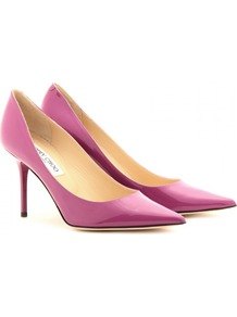 Agnes Patent Leather Pumps - predominant colour: magenta; occasions: evening, occasion; material: leather; heel height: high; heel: stiletto; toe: pointed toe; style: courts; finish: patent; pattern: plain