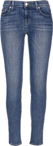 Blue 8110 Mid Rise Skinny Jeans Size - style: skinny leg; pattern: plain; pocket detail: traditional 5 pocket; waist: mid/regular rise; predominant colour: denim; occasions: casual; length: ankle length; fibres: cotton - mix; jeans detail: whiskering, shading down centre of thigh, washed/faded; texture group: denim; pattern type: fabric; pattern size: standard