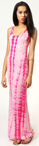 Abigail Tie Dye Scoop Neck Maxi Dress - sleeve style: sleeveless; style: maxi dress; length: ankle length; pattern: tie dye; predominant colour: pink; occasions: casual, evening, holiday; fit: body skimming; neckline: scoop; fibres: polyester/polyamide - mix; sleeve length: sleeveless; pattern type: fabric; pattern size: standard; texture group: jersey - stretchy/drapey