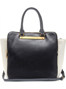 Bentley Leather Shopper - predominant colour: black; occasions: casual, work; type of pattern: standard; style: tote; length: handle; size: standard; material: faux leather; pattern: plain; finish: plain