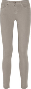 The Skinny Mid Rise Jeans - style: skinny leg; length: standard; pattern: plain; pocket detail: traditional 5 pocket; waist: mid/regular rise; predominant colour: light grey; occasions: casual; fibres: cotton - mix; texture group: denim; pattern type: fabric