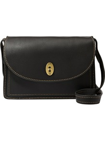 Austin Convertible Clutch - predominant colour: black; occasions: casual, evening, work; style: messenger; length: across body/long; size: small; material: leather; pattern: plain; finish: plain
