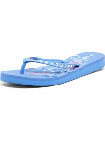 Dunlop Purple Gem Flip Flops - predominant colour: pale blue; occasions: casual, holiday; material: plastic/rubber; heel height: flat; heel: standard; toe: toe thongs; style: flip flops / toe post; finish: plain; pattern: patterned/print
