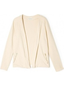 Shell Pattison Jacket - pattern: plain; style: single breasted blazer; collar: shawl/waterfall; predominant colour: nude; occasions: casual, work; length: standard; fit: straight cut (boxy); fibres: cotton - 100%; sleeve length: long sleeve; sleeve style: standard; texture group: cotton feel fabrics; collar break: low/open; pattern type: fabric