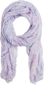 Tie Dye Effect Foulard - predominant colour: lilac; occasions: casual; type of pattern: standard; style: regular; size: standard; material: fabric; pattern: tie dye