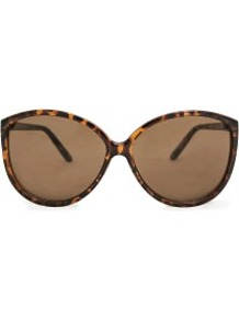 Cat Eye Sunglasses - predominant colour: chocolate brown; secondary colour: tan; occasions: casual, holiday; style: cateye; size: large; material: plastic/rubber; pattern: tortoiseshell; finish: plain