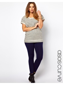 Curve Exclusive Legging In Navy - length: standard; pattern: plain; style: leggings; waist: mid/regular rise; predominant colour: navy; occasions: casual; fibres: viscose/rayon - stretch; texture group: jersey - clingy; fit: skinny/tight leg